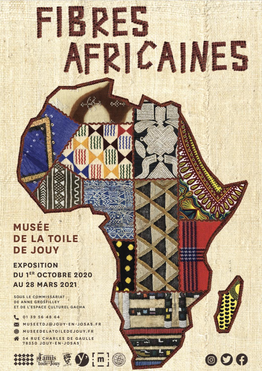 FIBRES AFRICAINES au musée de la Toile de Jouy – une exposition co-curatée par l'Espace Culturel Gacha
