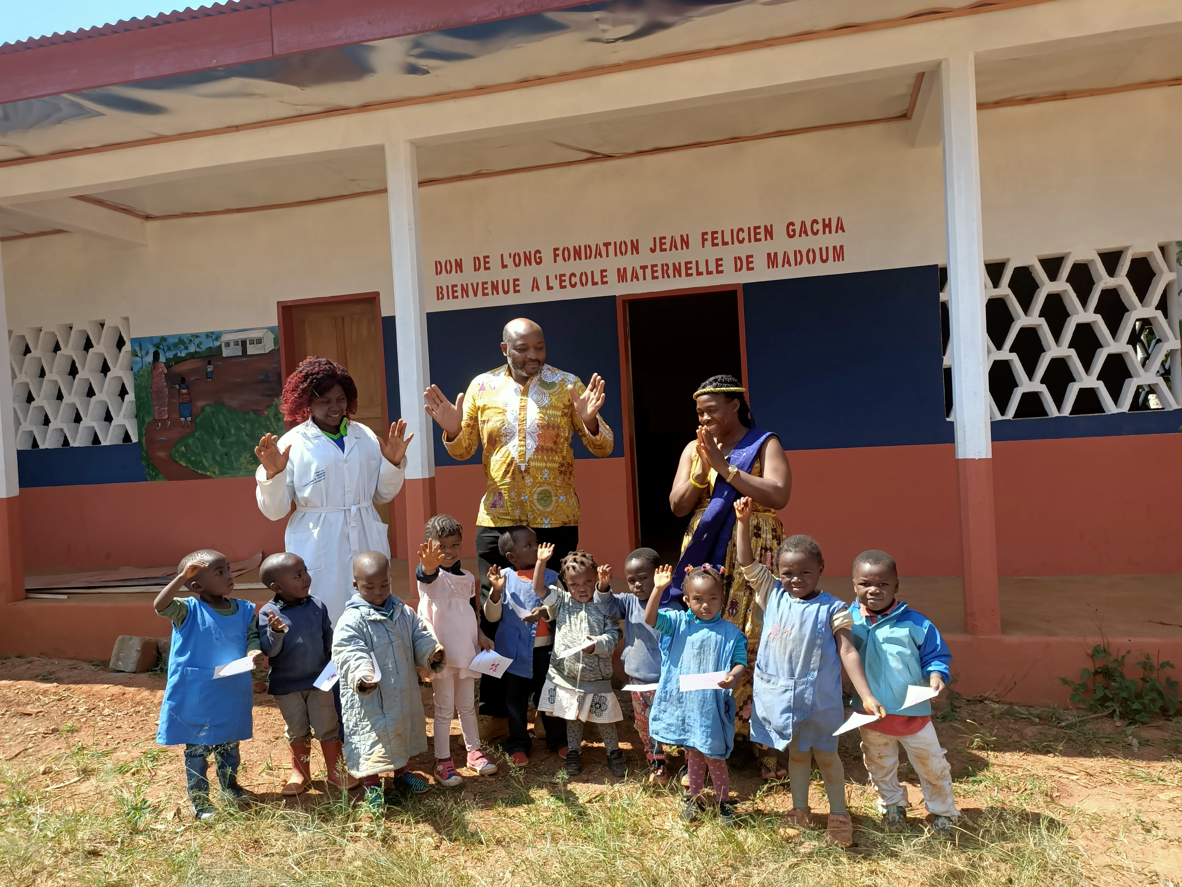 The Madoum school construction in Cameroun by the Gacha Foundation
