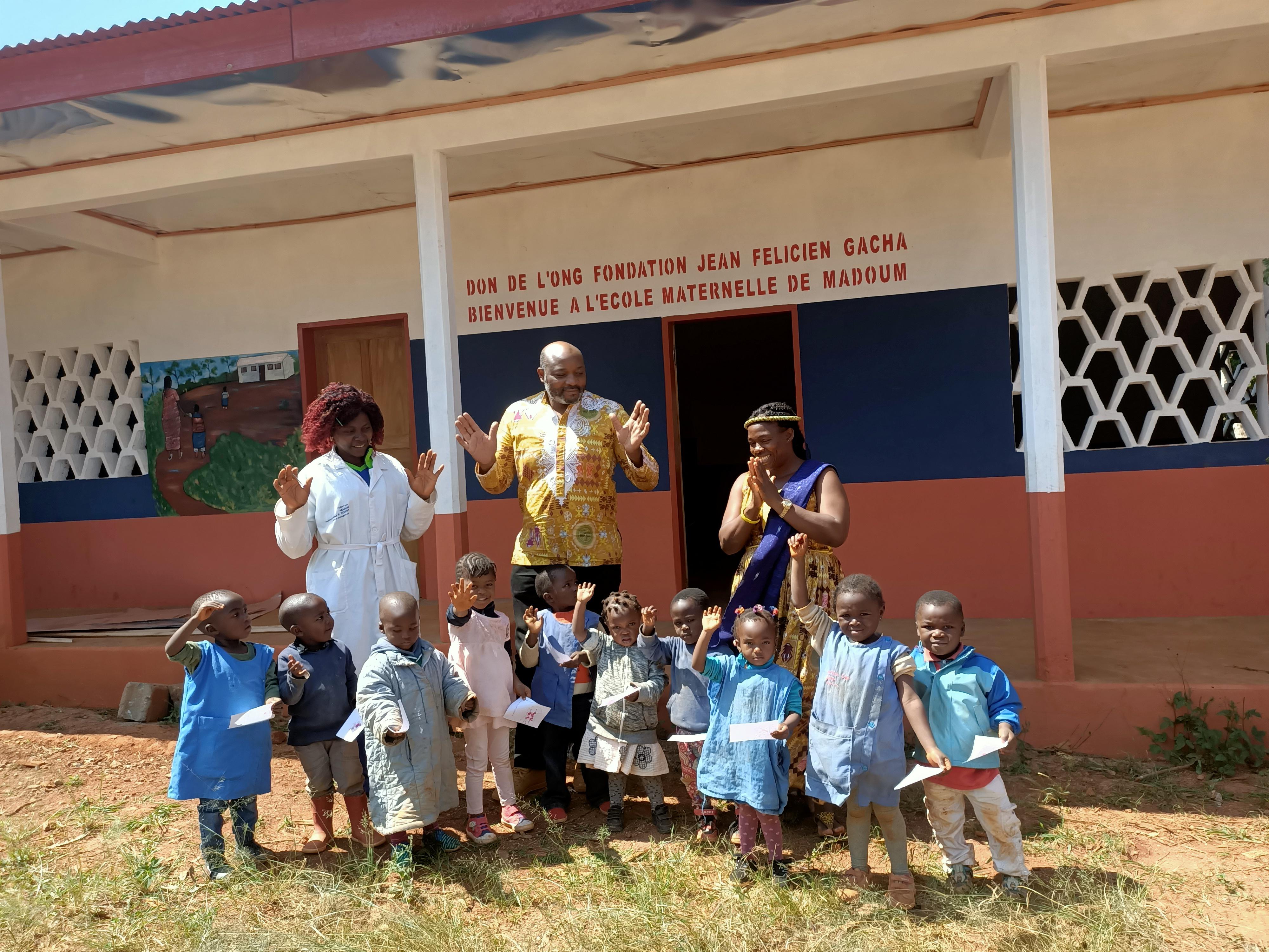 La construction de l'école de Madoum au Cameroun par la Fondation Gacha